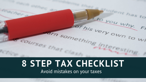 Checklist to help you avoid mistakes on your taxes