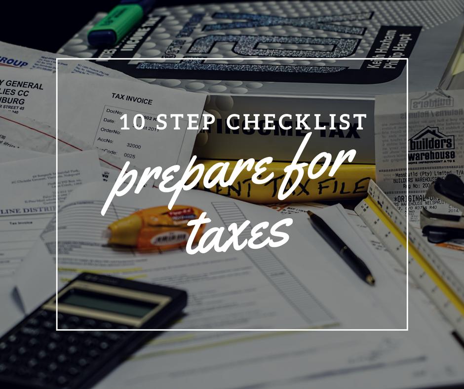 Prepare to File Your Taxes Checklist