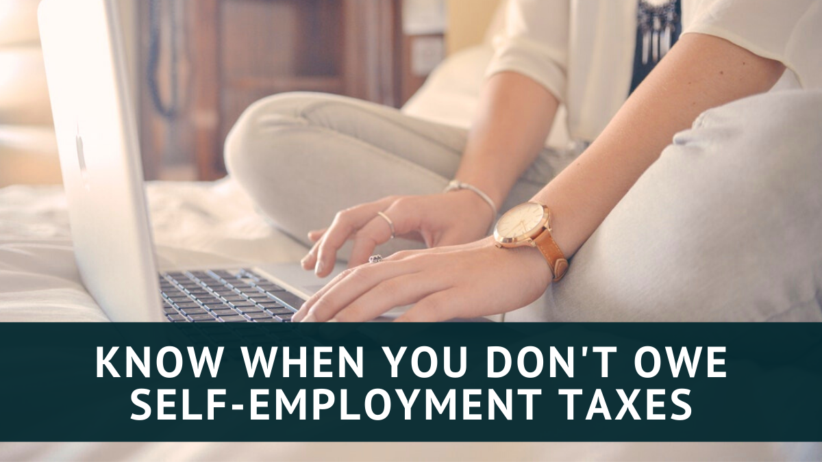 How to know if you don't owe self-employment taxes on one-time income